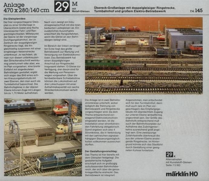 Anlage 29 M, Märklin H0 Gleisanlagen 0700