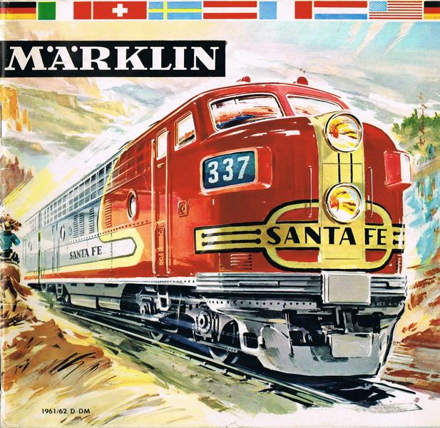 Deckblatt Märklin Katalog 1961/62 D
