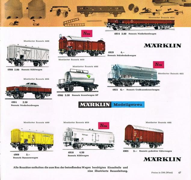 Märklin Bausatz Katalog Seite 1964/65