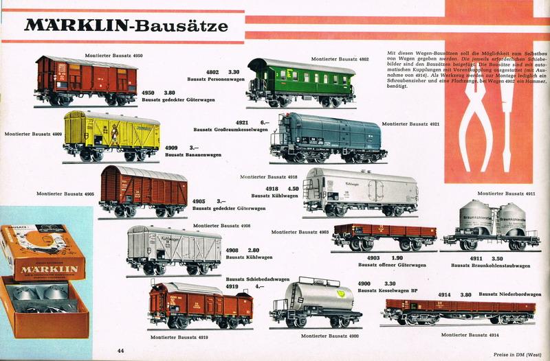 Märklin Bausatz Katalog Seite 1965/66