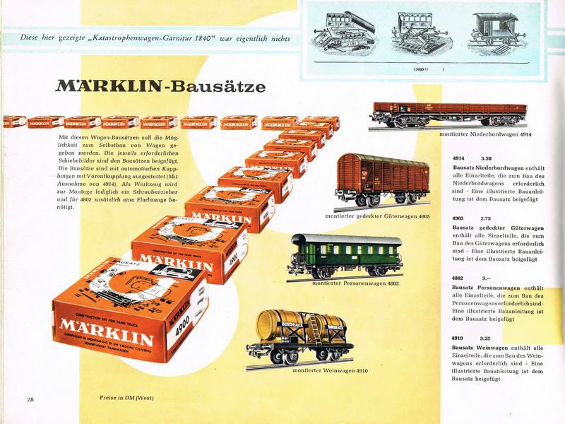Bausatz Seite Märklin Katalog 1959