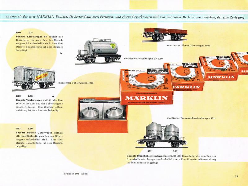 Märklin Bausatz Katalog Seite 1959