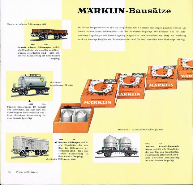 Märklin Bausatz Katalog Seite 1960/61