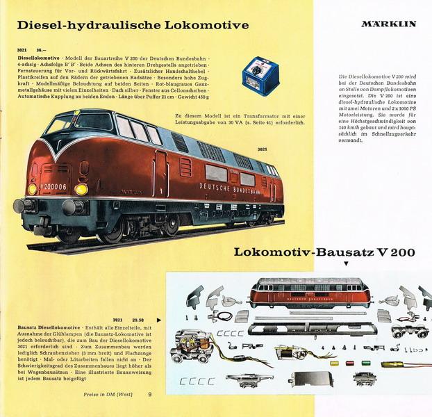 Märklin V 200 Bausatz Katalog 1960/61