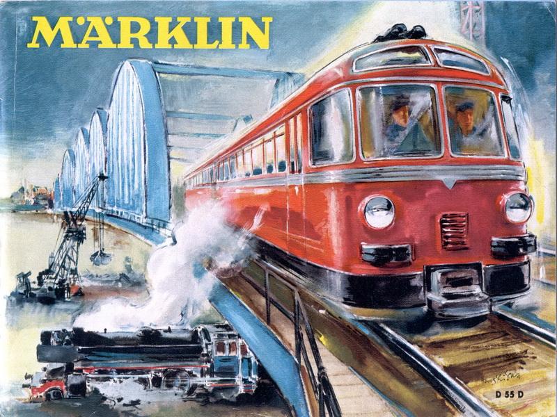 Deckblatt Märklin Katalog 1955