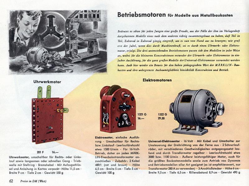 Märklin Betriebsmotoren 1955