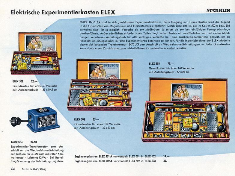 Märklin Elektrische Experimentierkasten ELEX