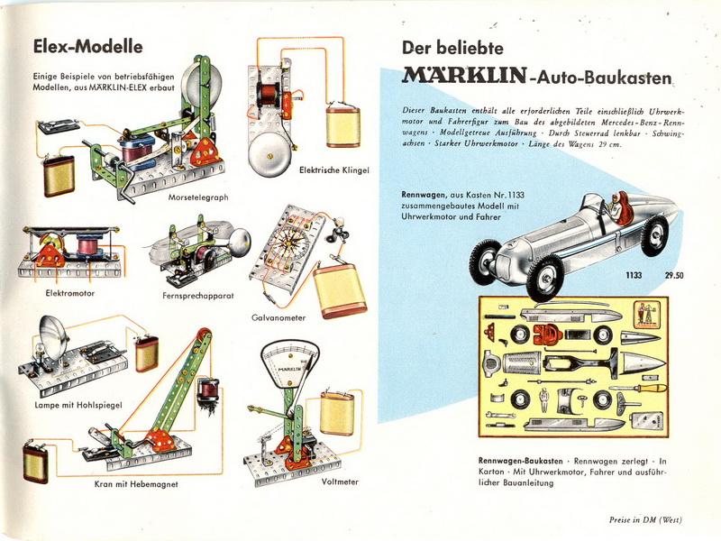 Märklin ELEX-Modelle 1955