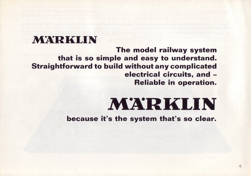 Märklin Model Layouts for 1966