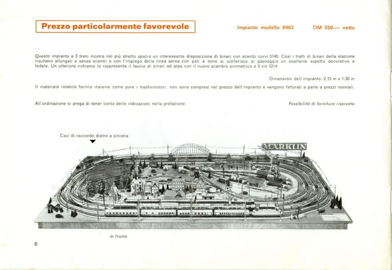 Märklin Plastici 1968 per Esposizione