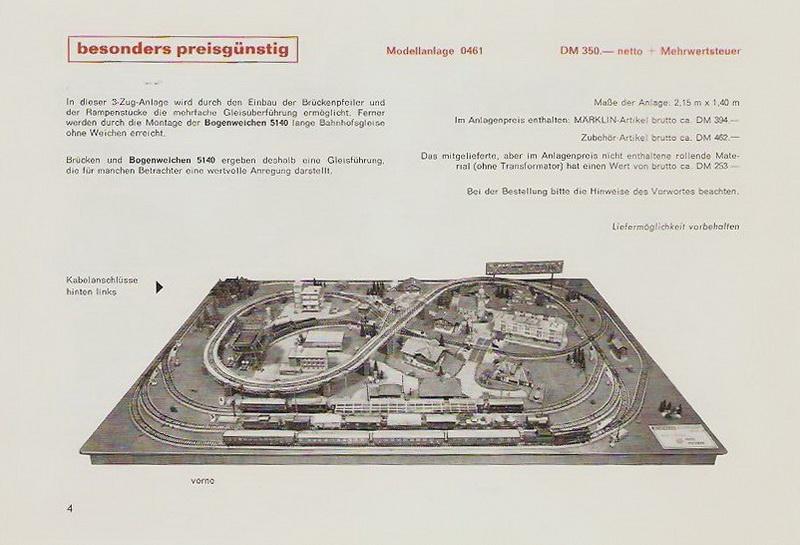 Märklin Modellanlage 0461, 1968