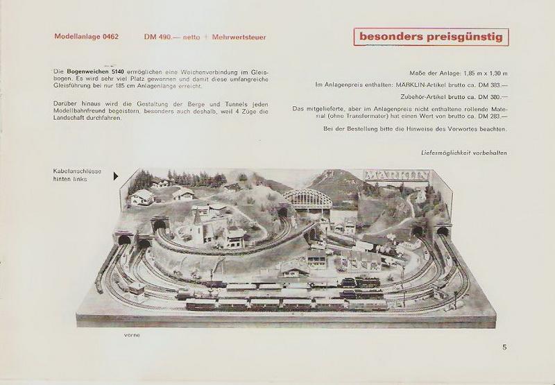 Märklin Modellanlage 0462, 1968