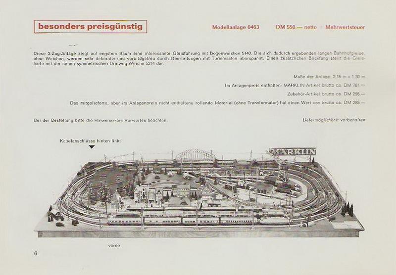 Märklin Modellanlage 0463, 1968