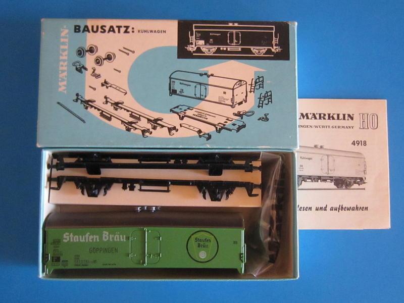 """Märklin 4934 – Bausatz, Bierwagen, """"Staufen Bräu"""""""
