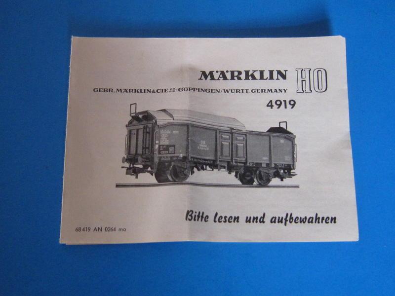 Märklin 4919 – Bausatz, Schiebedachwagen 4619