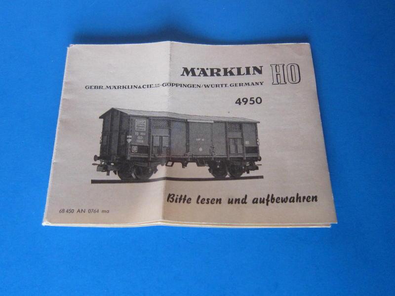 Märklin 4950 – Bausatz, italienischer Güterwagen 4550