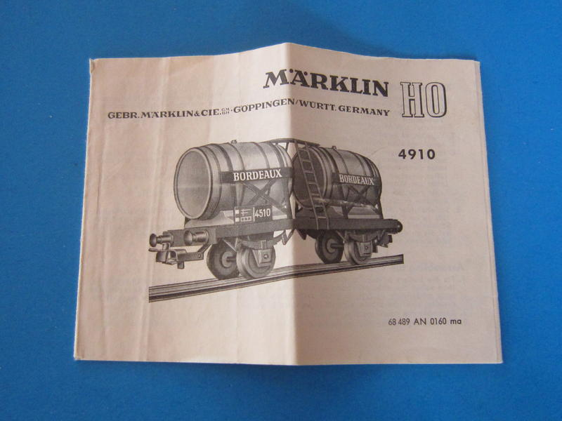 Märklin 4910 – Bausatz, Weinwagen 4510