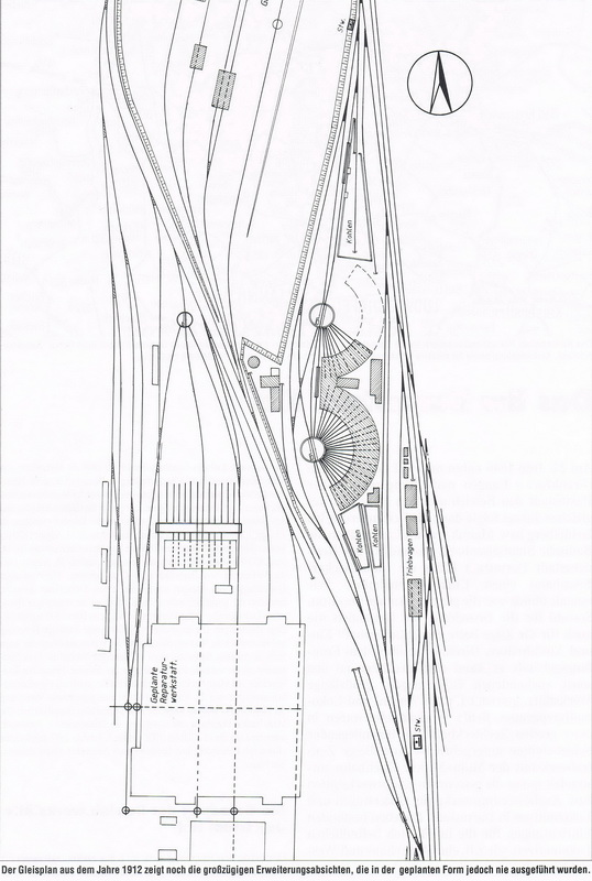 Gleisplan Bw Darmstadt Hbf 1912