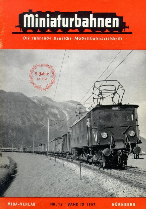 Deckblatt Miniaturbahnen Nr. 12 / Band IX 1957