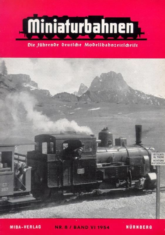 Deckblatt Miniaturbahnen Nr. 8 / Band VI 1954