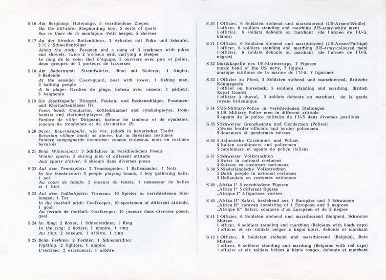 Firma Preiser Katalog 1954