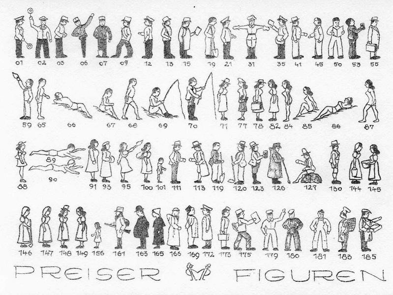 Preiser Katalog 1956
