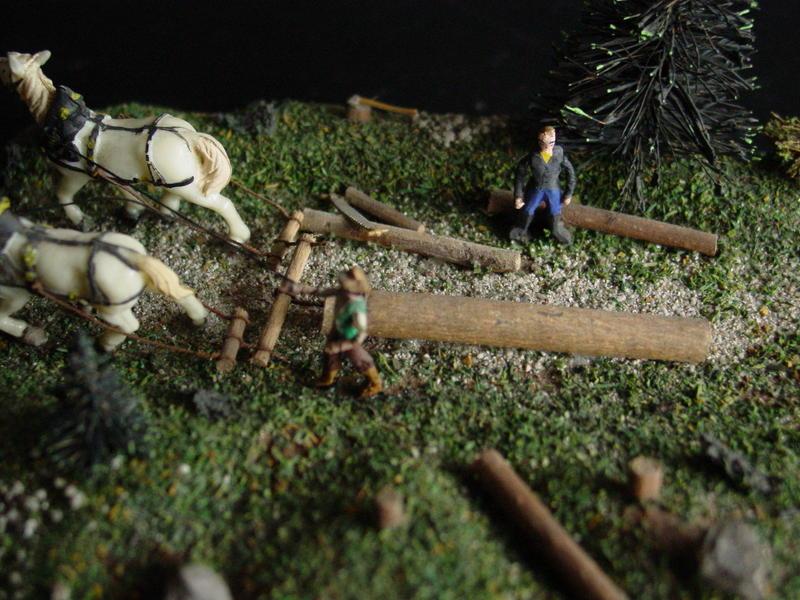 Preiser Kleindiorama Holzrücken