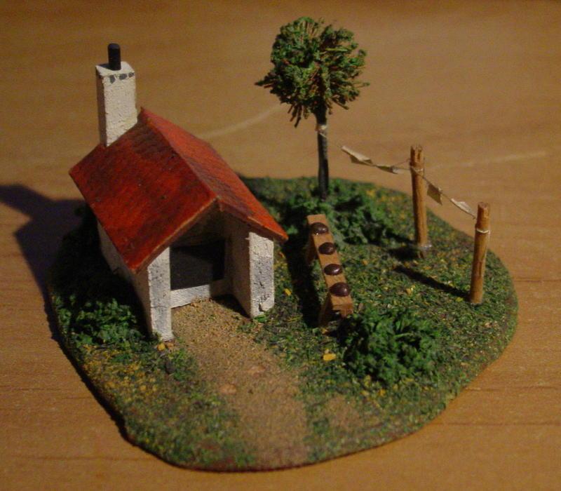 Preiser Kleindiorama Backhaus