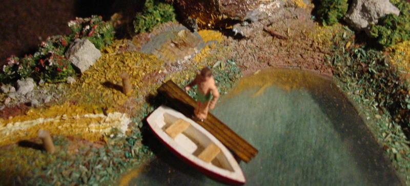 Preiser See mit Boot -