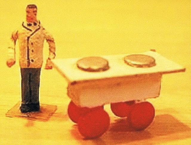 Preiser Eiswagen mit Verkäufer 447