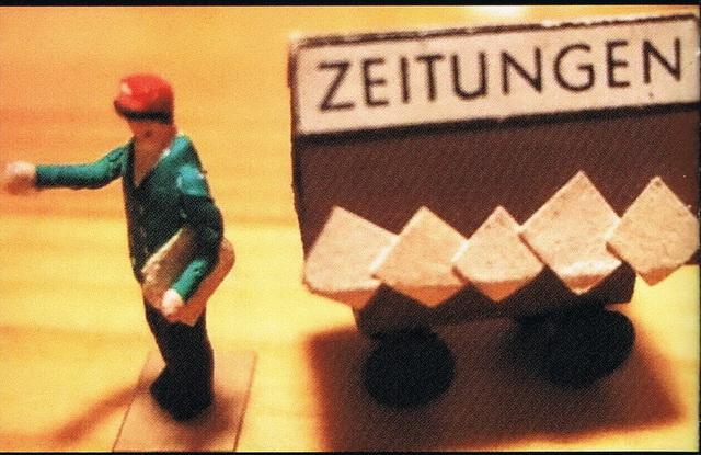 Preiser Zeitungswagen mit Verkäufer 449