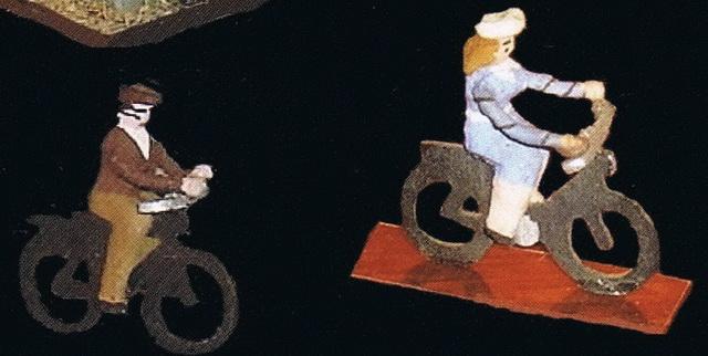 Preiser Fahrradfahrer/in 457+458