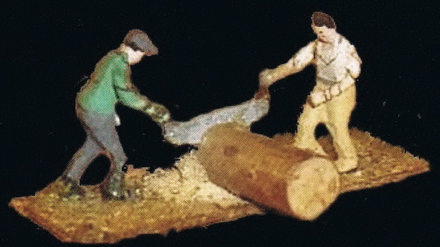 Preiser Holzfäller 413