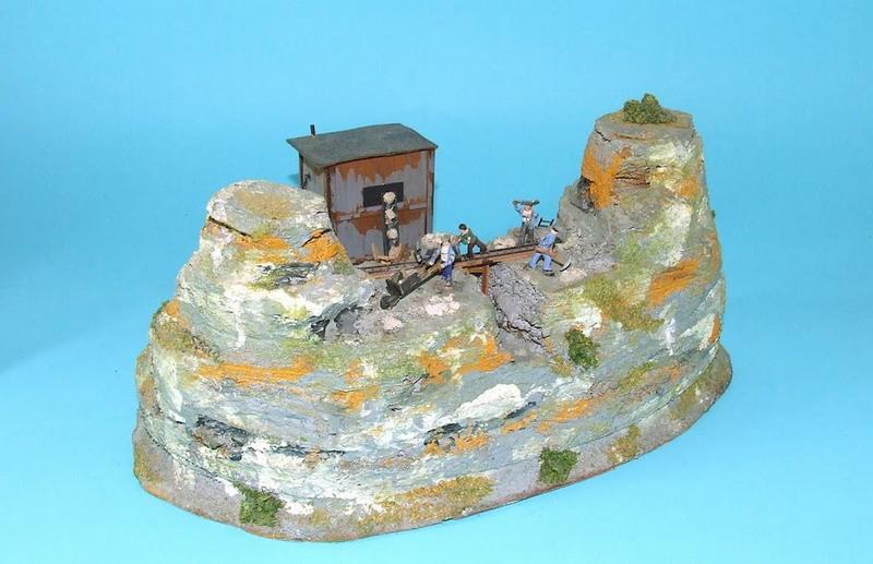 Steinbruch mit Schotterwerk 1018, Fa. Preiser