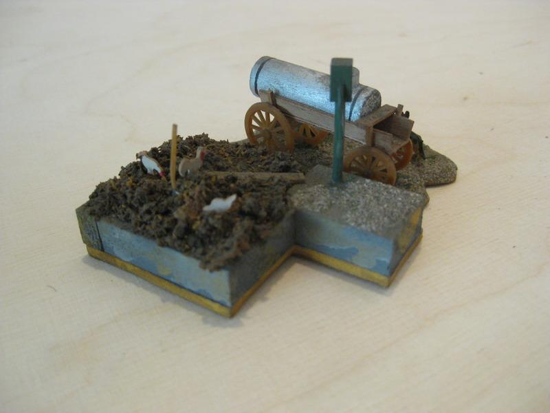 Preiser Misthaufen-Jauchegrube-Mistkaut mit Wasserwagen und Brunnen