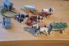 Preiser Schäferkarren mit Holzkühen, Brunnen