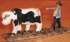 Preiser Bauer Kuh treibend 415