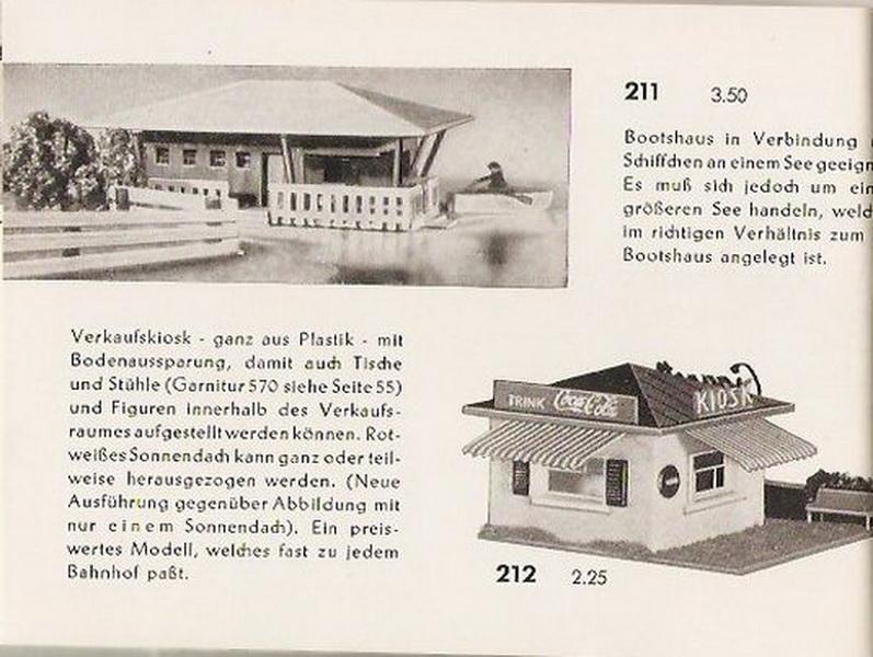 Auszug Faller Katalog 1954
