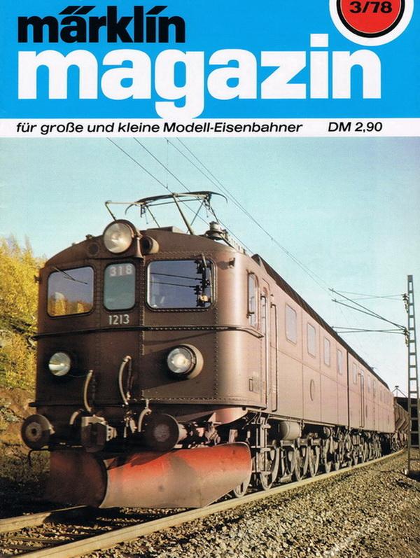Deckblatt Märklin Magazin 3/78