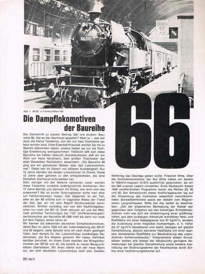 Märklin Magazin 3/75 BR 66