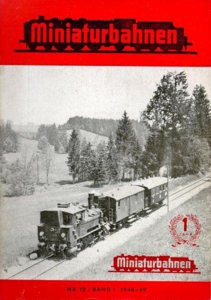 Deckblatt Miniaturbahnen Nr. 12/Band I 1948/49