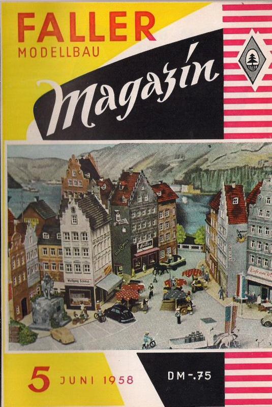 Deckblatt Fallermagazin 5, Juni 1958