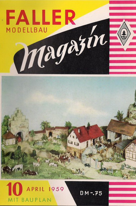 Deckblatt Fallermagazin 10, April 1959