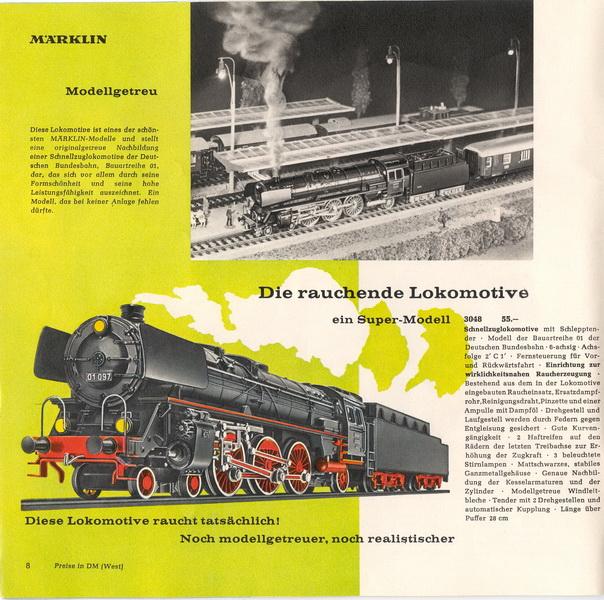 Auszug Märklin Katalog 1963/64