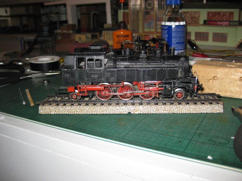 Umbau Trix Express Guß BR 64/ Märklin Fahrwerk BR 24