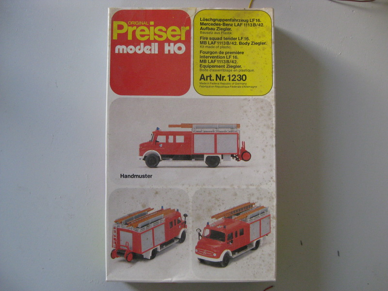 Preiser Modell H0 Löschgruppenfahrzeug LF 16