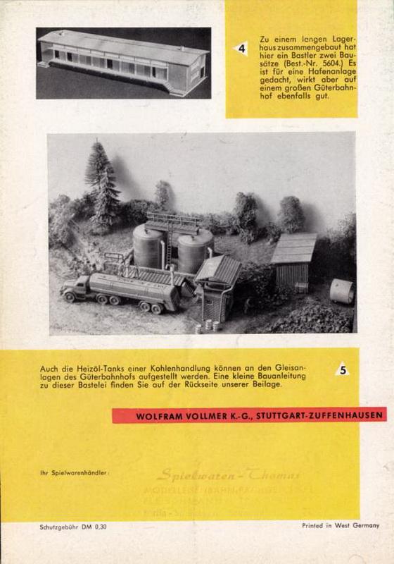 1000 Möglichkeiten mit Vollmer Teilen - Güterbahnhof 1/1961