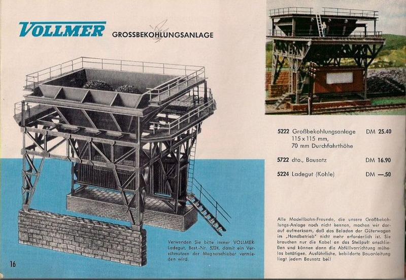 Vollmer Katalog 1961/62 Bilder Großbekohlungsanlage 5222/5722,