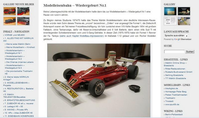 Modelleisenbahn – Wiedergeburt Nr.1