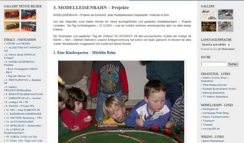 MODELLEISENBAHN – Projekte